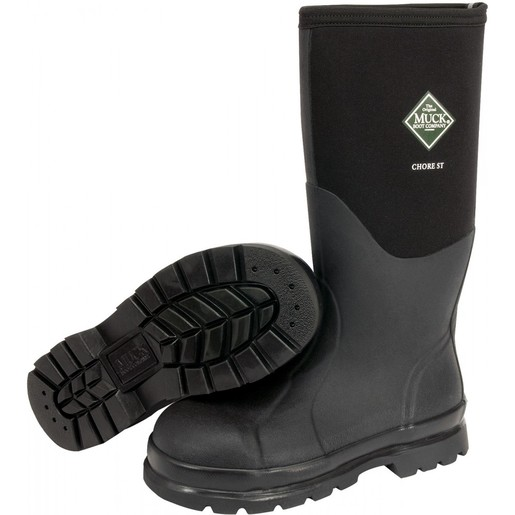 Servus by Honeywell Size 8 Muck Chore Black 16'' Insulated Neoprene And CR Flex-Foam Boots With Vibram Outsole, Steel Toe, And EVA Sock Liner
