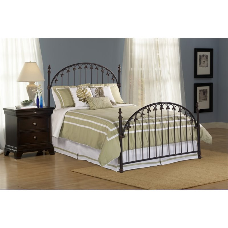Hillsdale Kirkwell Full Poster Bed in Brushed Bronze by Hillsdale