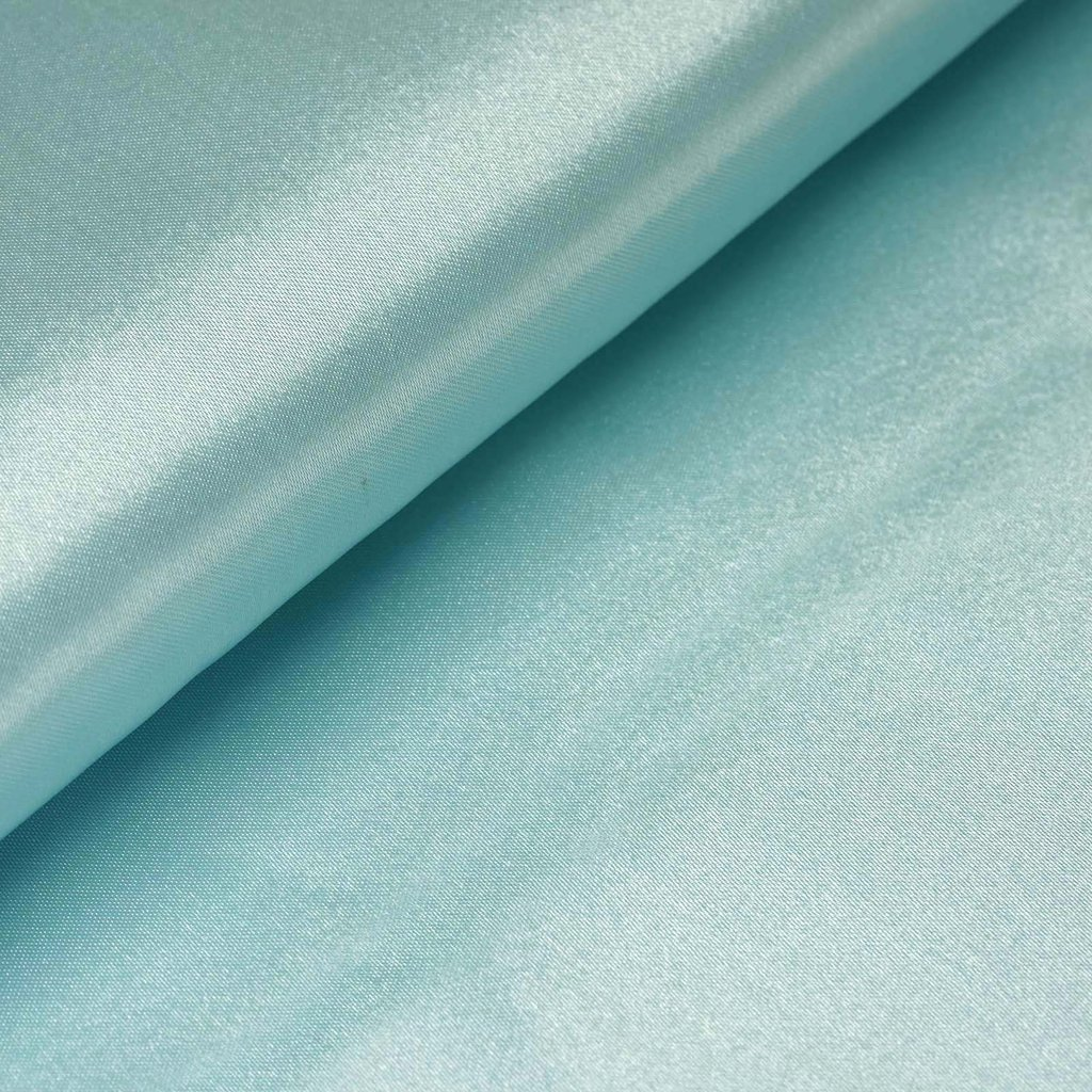 "54"" Wide x 10 yards Satin Fabric Bridal Bolt - Light Blue"