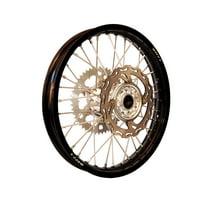 Warp 9 Complete Wheel Kit - Rear 19 x 2.15 Black Rim/Silver Hub/Silver Spokes and Nipples