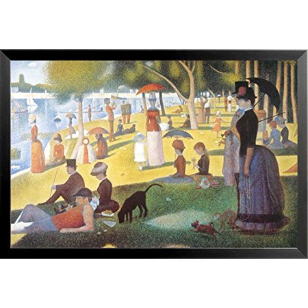 buyartforless A Sunday Afternoon on the Island of La Grande Jatte Framed Wall Art