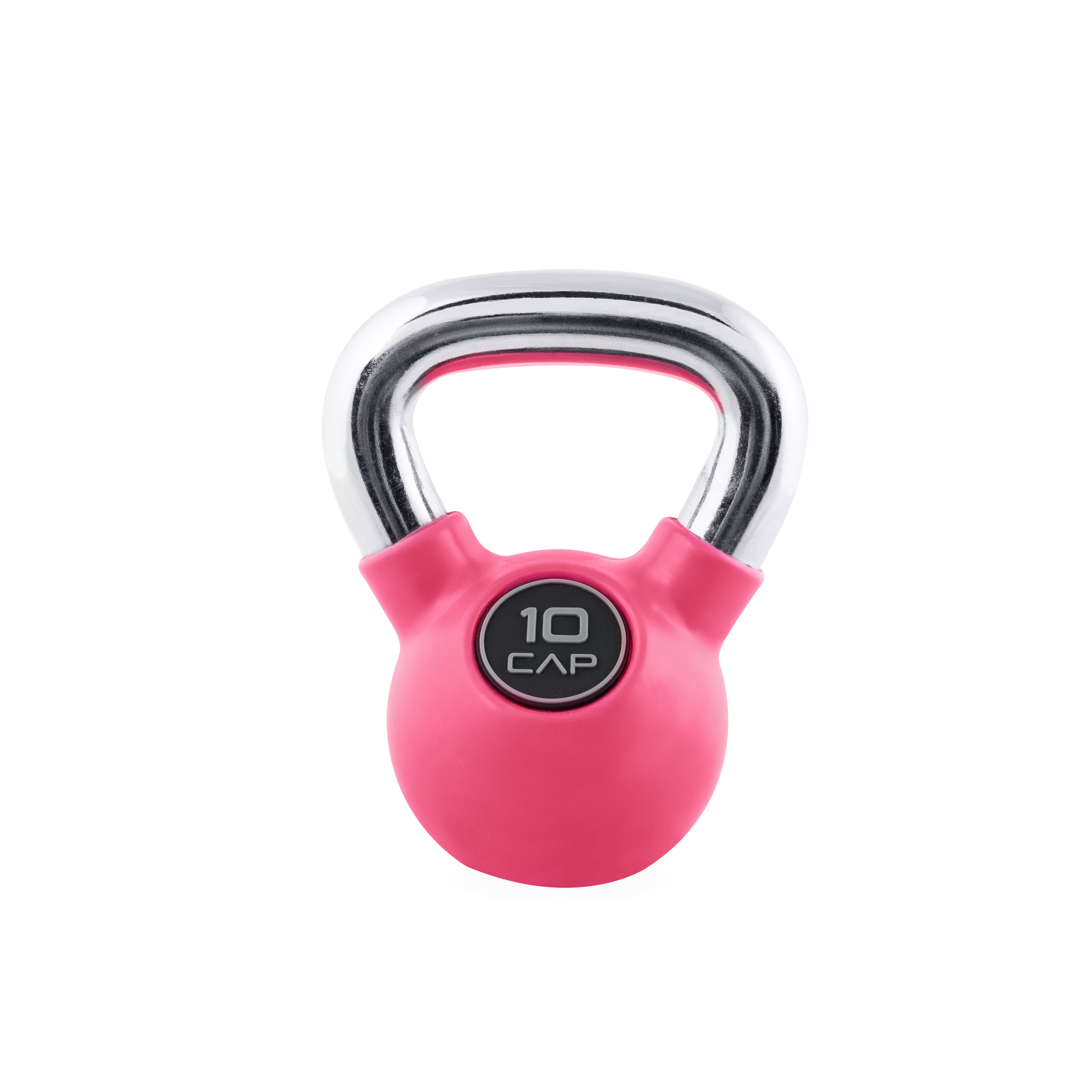 25 lb Premium CAP Kettlebell Weight Training Rubber Coated Chrome Handle NEW
