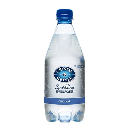 Water Key Spring (Crystal Geyser Sparkling Spring Water Original, 18 Fl Oz, 4 Ct )