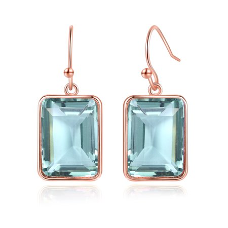 Tacori Amethyst Earrings (Genuine Green Amethyst Drop Earrings in 18K Rose Gold)