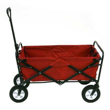 Subaru Outback Sport Wagon - Mac Sports Folding Utility Wagon, Red
