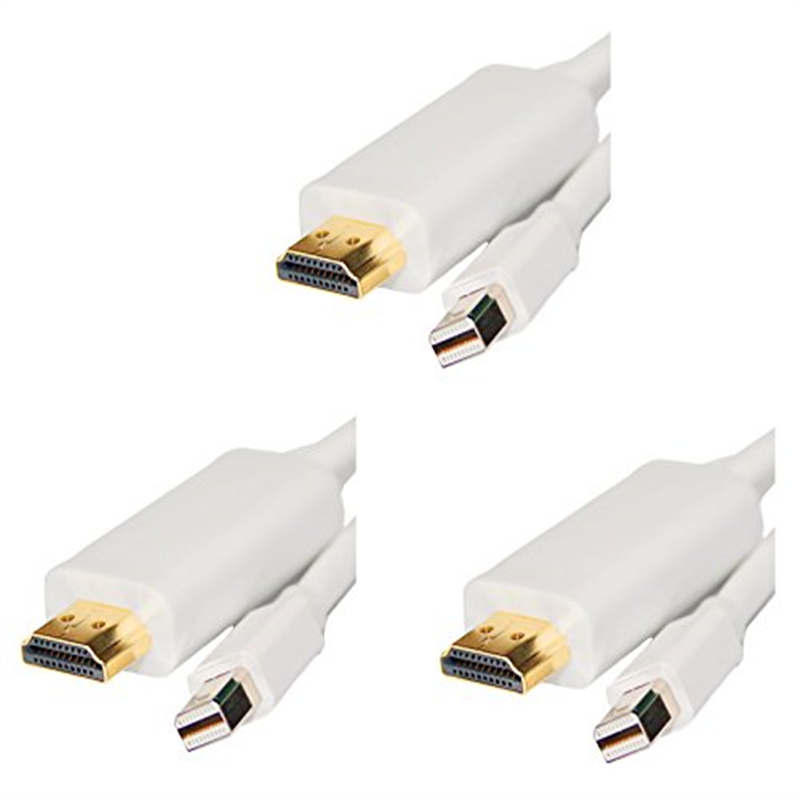 ACLgiants (3Pack) Premium mini Display port to HDMI male 6 Foot