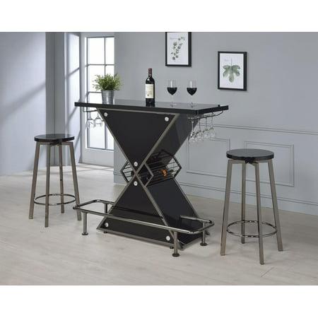 Coaster Bar Unit in Black Acrylic