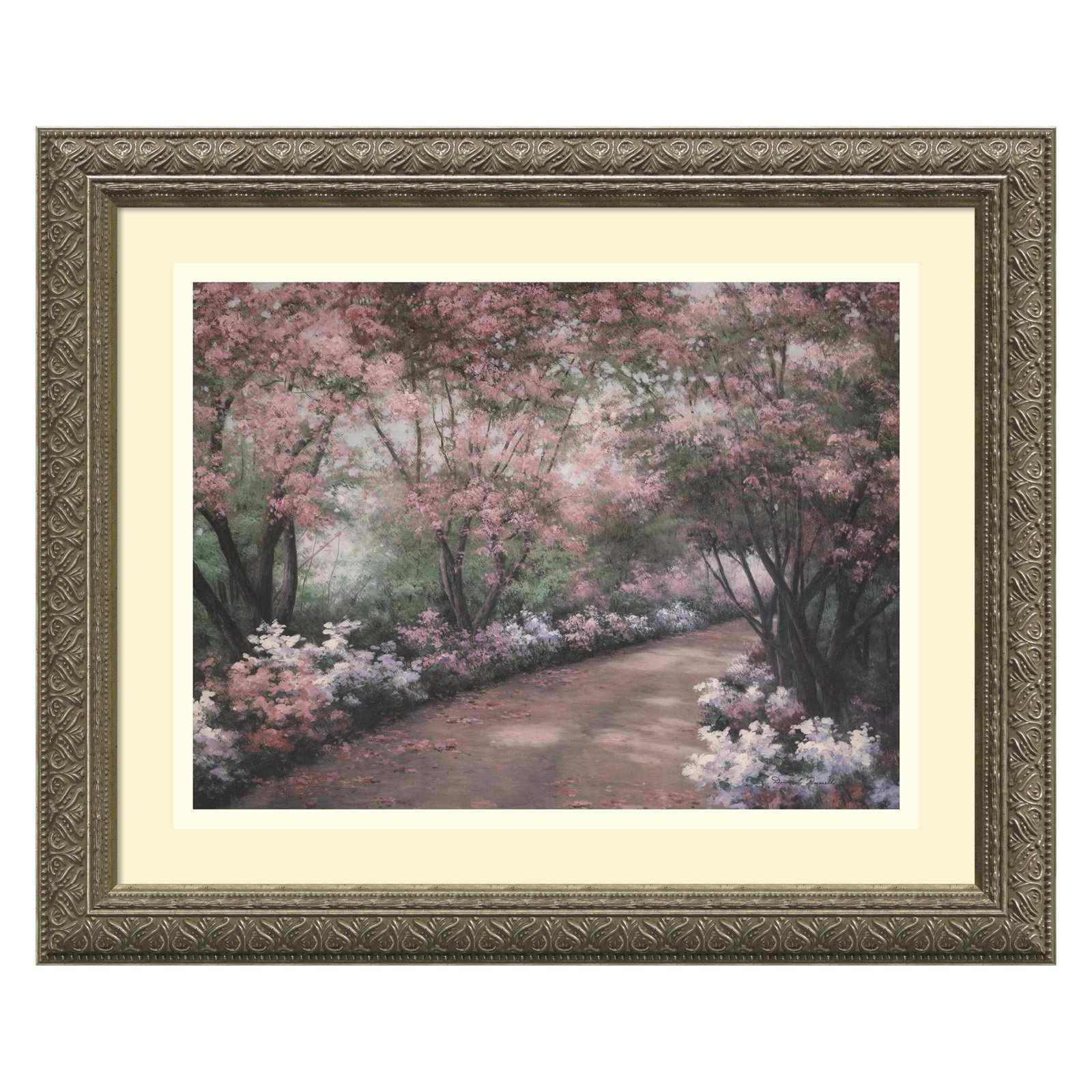 Azalea Walk Framed Wall Art by Diane Romanello - 17.12W x 14.12H in.