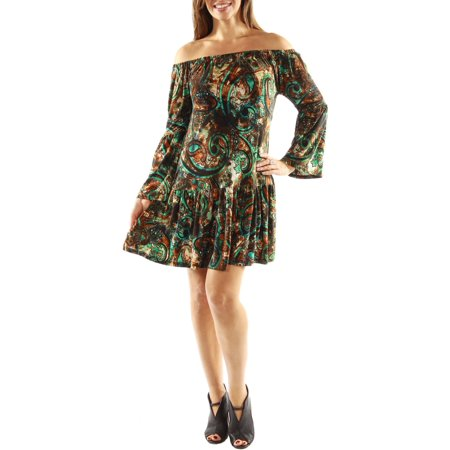 Women's Peacock Party Dress with Drop Waist Style (Peacock Party Dress)