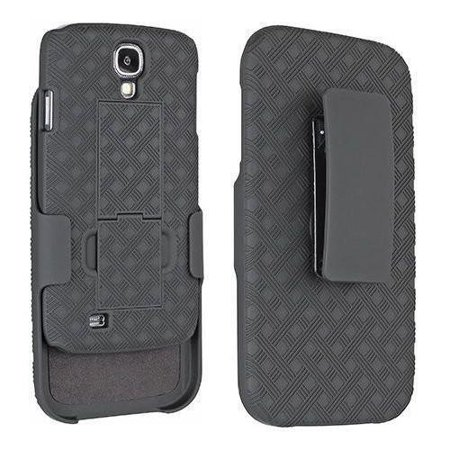 Samsung Galaxy S4 Case, Swivel Locking Belt Clip, Slim Holster Shell Combo Cover [Kickstand Feature] for Galaxy S4 -