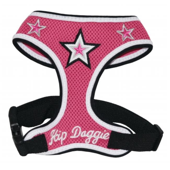 Hip Doggie HD-6PMST-3XL Triple Extra Large Pink Super Star Harness Vest