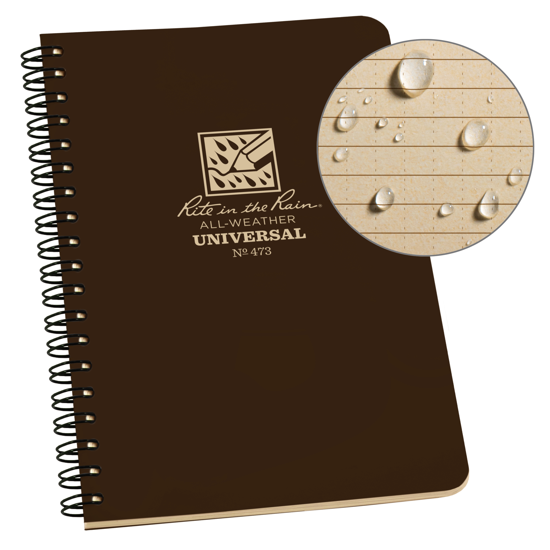 Rite in the Rain Weatherproof Side Spiral Notebook, 4.625 ...