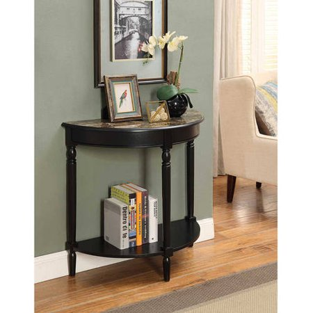 Convenience Concepts French Country Half Moon Hall Table, Mu