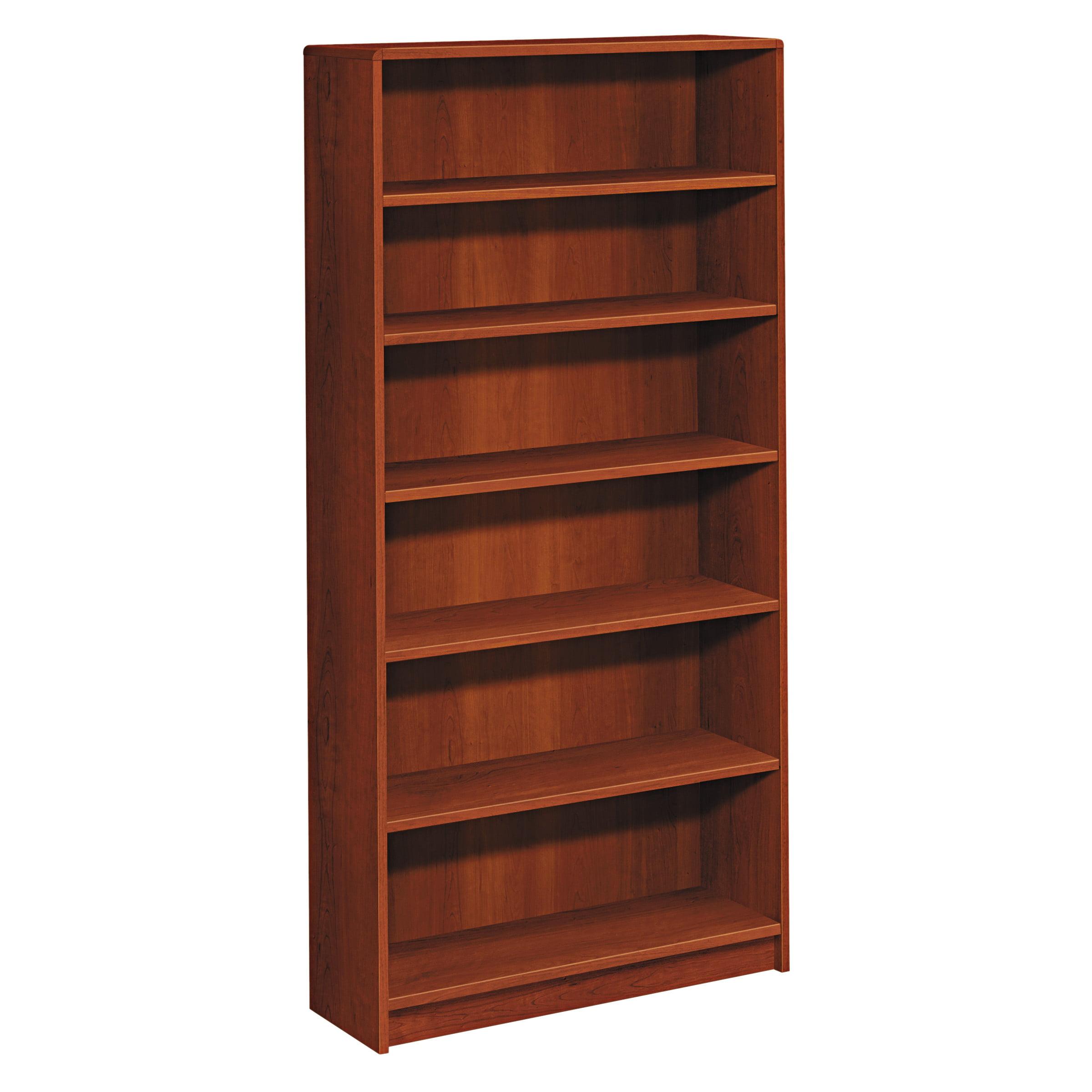 HON 1890 Series Bookcase, Six Shelf, 36w x 11 1/2d x 72 5/8h, Cognac