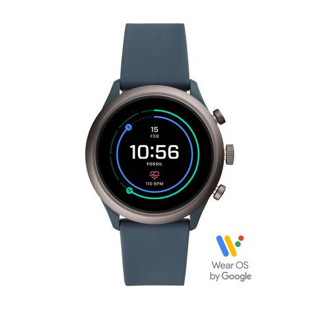 Fossil Sport Men's Smartwatch - Smokey Blue Silicone 43mm - Powered with Wear OS by Google™