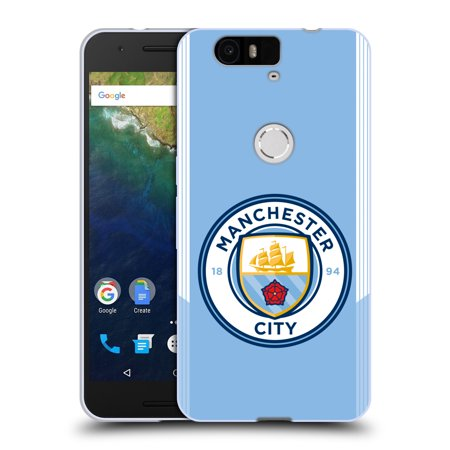 OFFICIAL MANCHESTER CITY MAN CITY FC BADGE KIT 2017/18 SOFT GEL CASE FOR HUAWEI PHONES 2