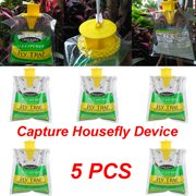 Womail 5PCS Outdoor Disposable Fly Catcher Control Trap with Attractant Insecticide
