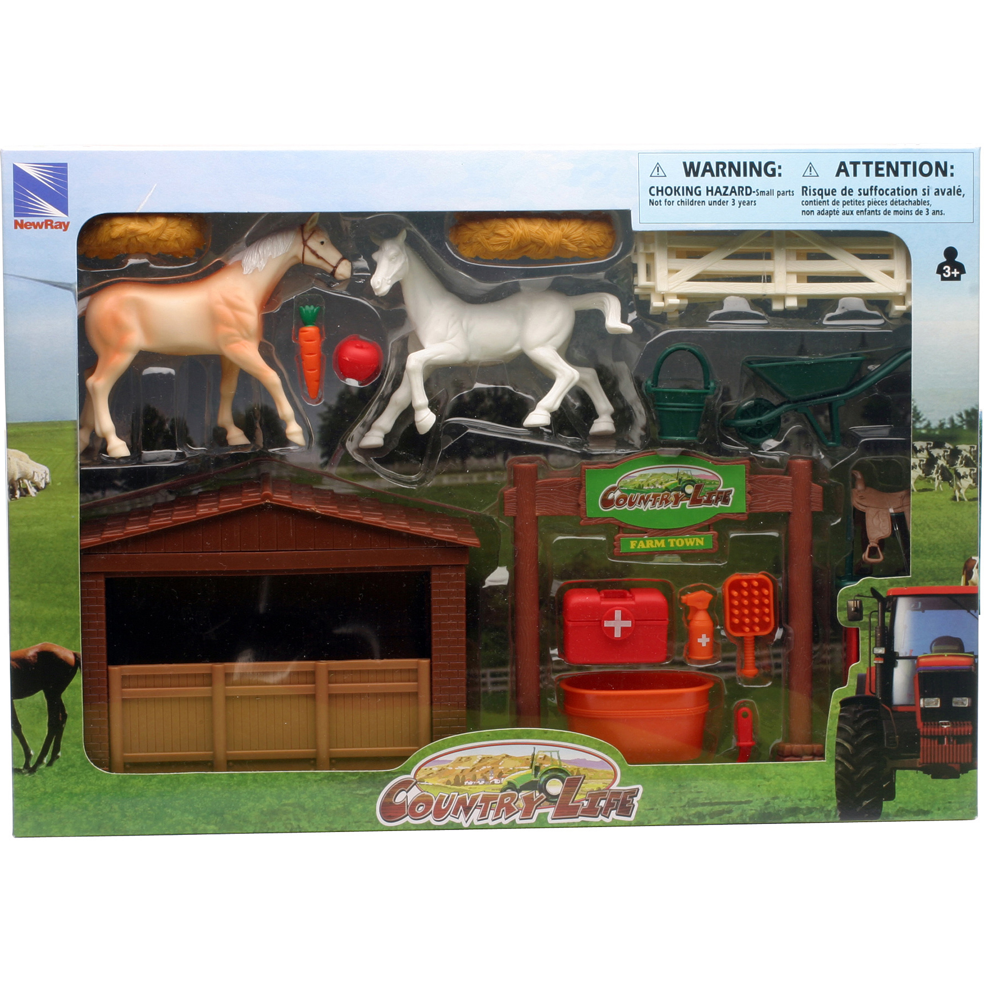 Country Life Farm Horse and Stable Set