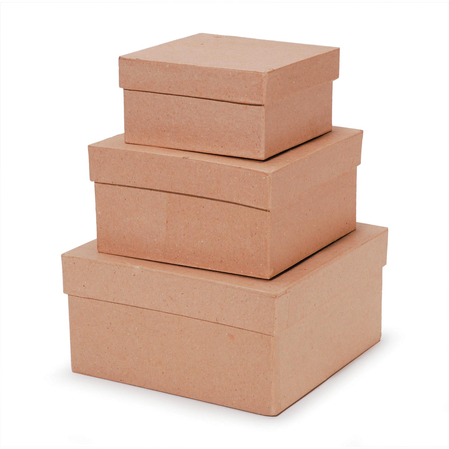 Paper Mache Square Box Set of 3