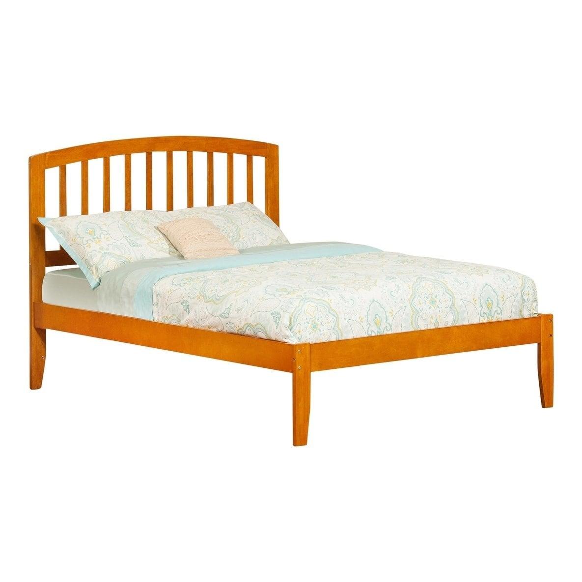 Atlantic Furniture Richmond Caramel Latte Full Open Foot Bed