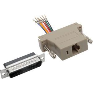 Tripp Lite DB25 to RJ45 Modular Serial Adapter M/F RS-232 RS-422 RS-485