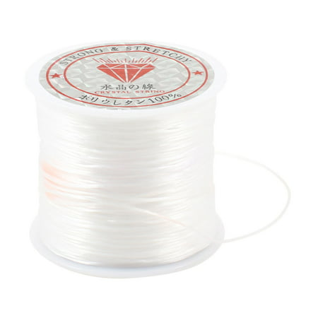 Necklace Jewelry Bead Thread Elastic Crystal Line String White 120M 393.7 Ft