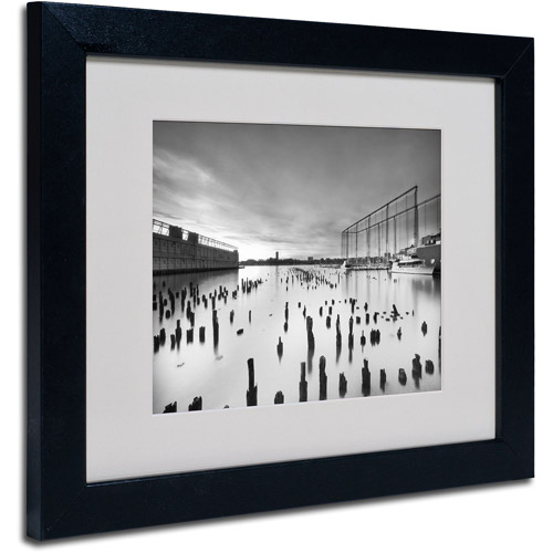 "Trademark Fine Art ""Palimpsest"" Matted Framed Art by Geoffrey Ansel Agrons, Black Frame"