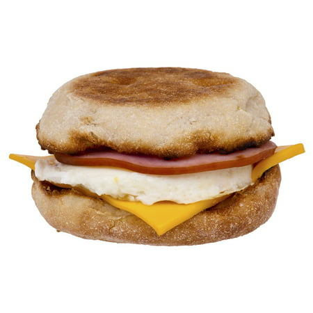 Canvas Print Breakfast Canadian Bacon Cheese Food Egg Muffin Stretched Canvas 10 x