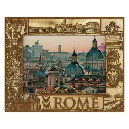 Framed Laser - Rome Italy Laser Engraved Wood Picture Frame (5 x 7)