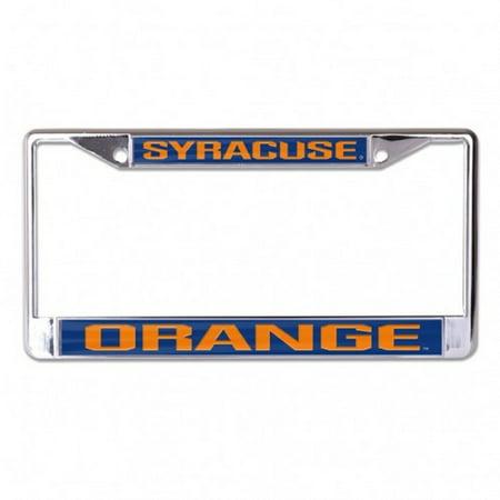 Syracuse Orange Laser Cut Auto Tag License Plate Frame