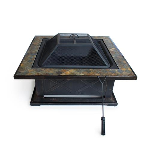 Cap Barbell Outdoor Escapes 36-inch Square Slate Firepit Table by Firepits