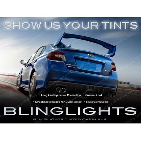 New Subaru Impreza Tinted Smoked Tail Lamps Lights Overlays Film (Subaru Impreza Tail Lamp)