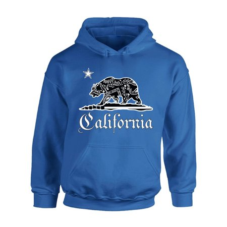 Awkward Styles California Republic Bandana Hooded Sweatshirt California Hoodie Unisex Cali Gifts California Bear Hoodie Sweater California Republic Sweater Gifts from California - Bear Hoodie