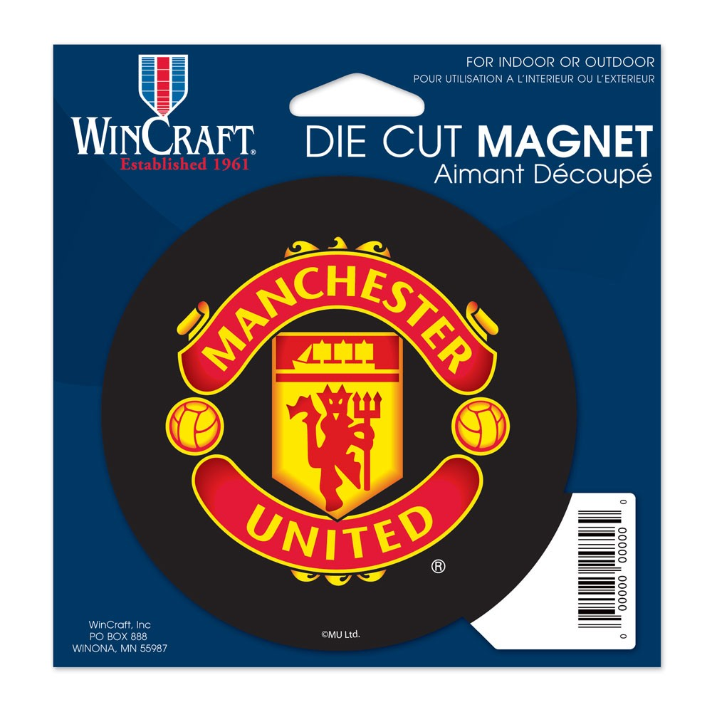 Manchester United Official PREMIER LEAGUE 4.5 inch x 6 inch  Car Magnet by Wincraft