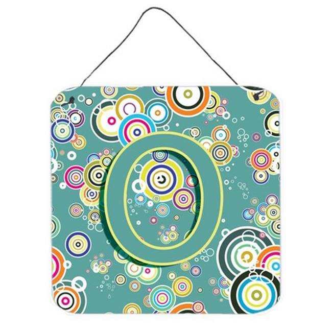 Carolines Treasures CJ2015-ODS66 Letter O Circle Circle Teal Initial Alphabet Wall and Door Hanging Prints - image 1 of 1