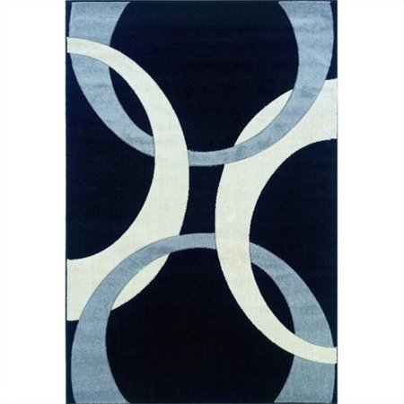 """Hawthorne Collection 1'11"""" x 2'10"""" Kids Area Rug in Black and Gray - image 1 of 1"""