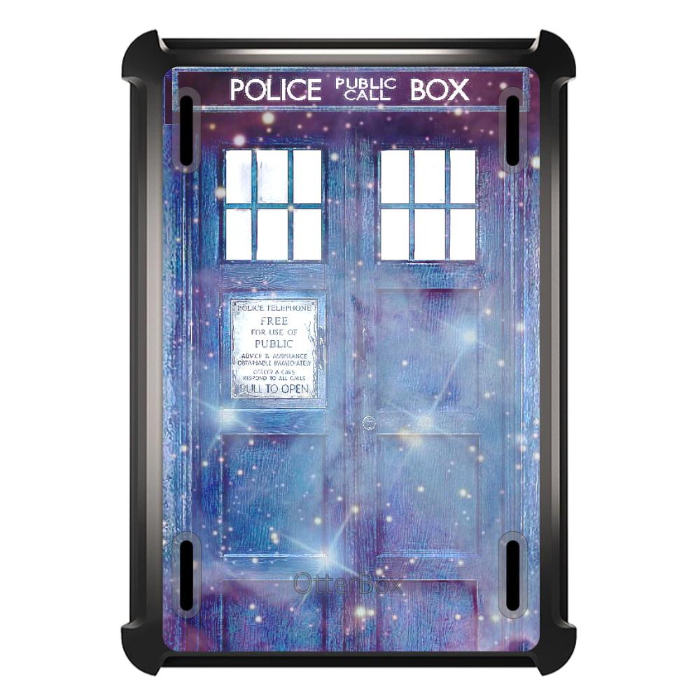 CUSTOM Black OtterBox Defender Series Case for Apple iPad Mini 4 - Fading TARDIS Outer Space Stars