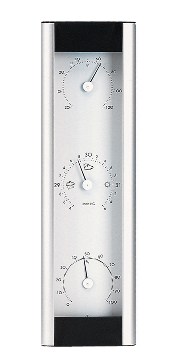Weather Station Aluminum 13 in Silver by