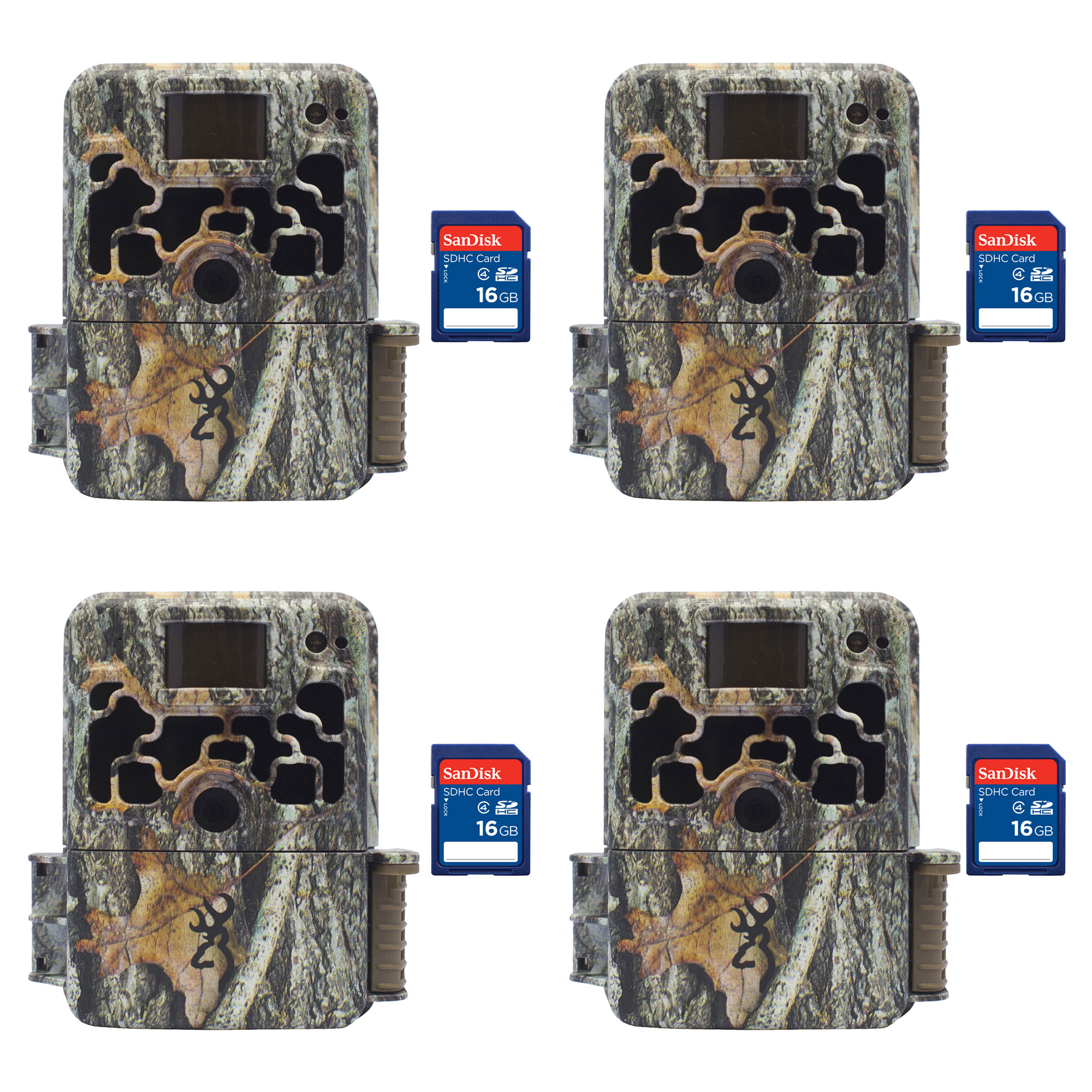 Browning Trail Cameras Dark Ops 940 16MP HD IR Game Camera, 4 Pack + SD Cards by Browning Trail Cameras