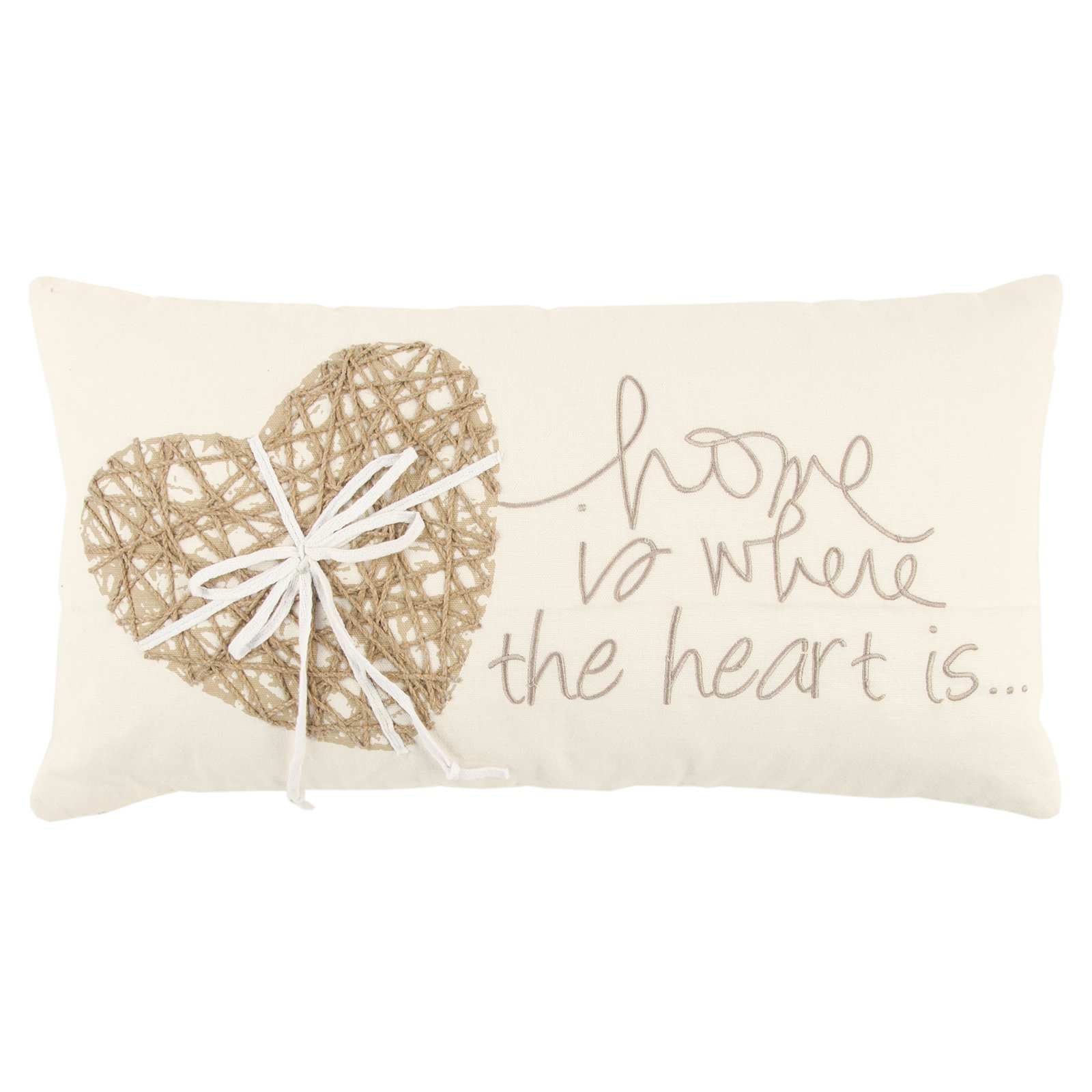 Rizzy Home Heart Decorative Pillow
