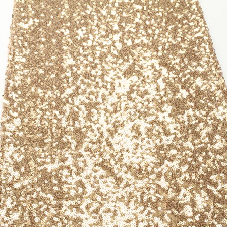 Koyal Sequin Table Runner, 12 by 108-Inch, Champagne
