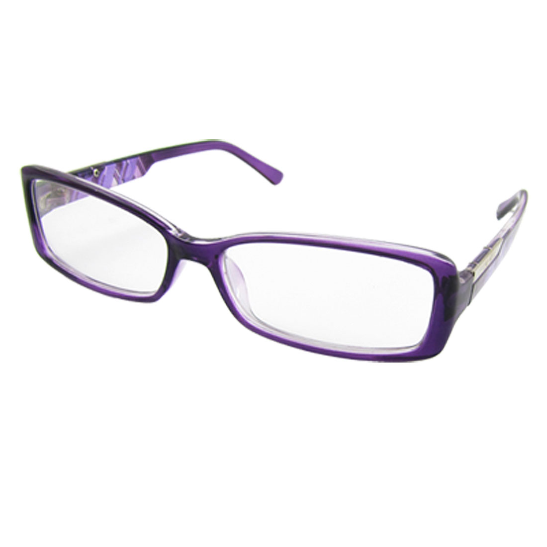 purple plastic multi coated lens plano glasses