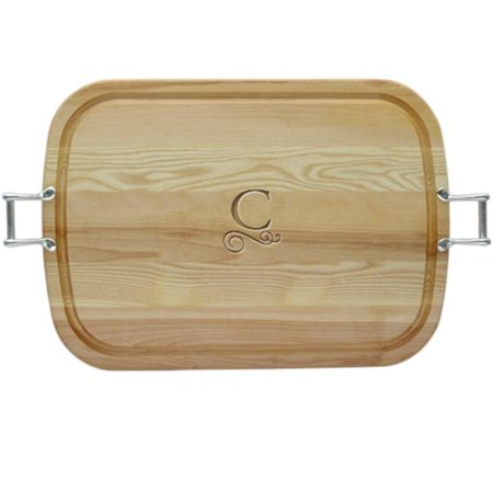 Carved Solutions Large Everyday Tray With Urban Pewter -Pi-Flourish-B - image 1 of 1