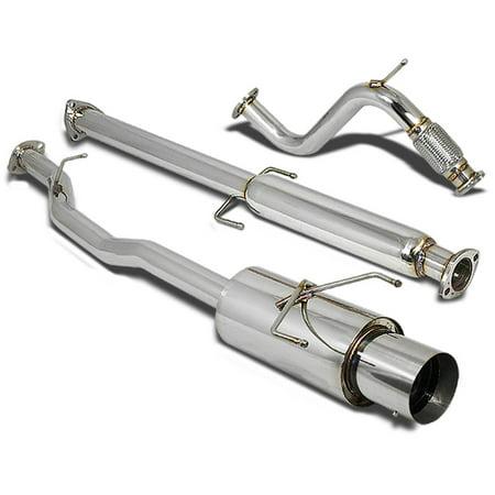 "For 1994 to 1997 Honda Accord Stainless Steel Catback Exhaust System 4.5"" Muffler (Chrome Muffler Tip) CD 95 96"