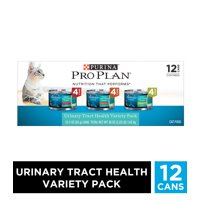 (12 Pack) Purina Pro Plan Urinary Tract Health Wet Cat Food Variety Pack, FOCUS Urinary Tract Health Formula, 3 oz. Cans