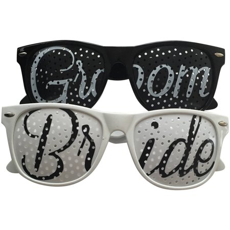 Bride and Groom Wedding Party Sunglasses, Set of 2