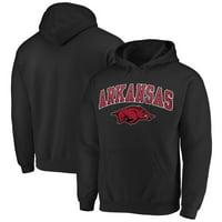 Fanatics Branded Arkansas Razorbacks Campus Pullover Hoodie - Black