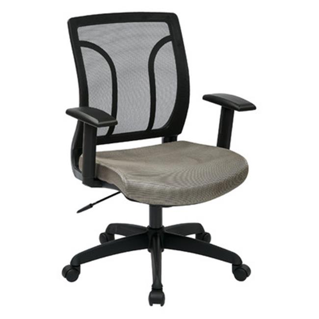 Avenue 6 Office Star EM50727-2 Screen Back Chair with Mesh Seat with Height Adjustable Arms