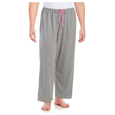 HUE NEW Gray Womens Size 2X Plus Heart-Printed Sleepwear Lounge Pants Calvin Klein Womens Sleepwear