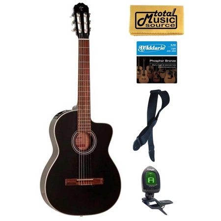 takamine g series gc1ce blk acoustic electric classical guitar black bundle. Black Bedroom Furniture Sets. Home Design Ideas